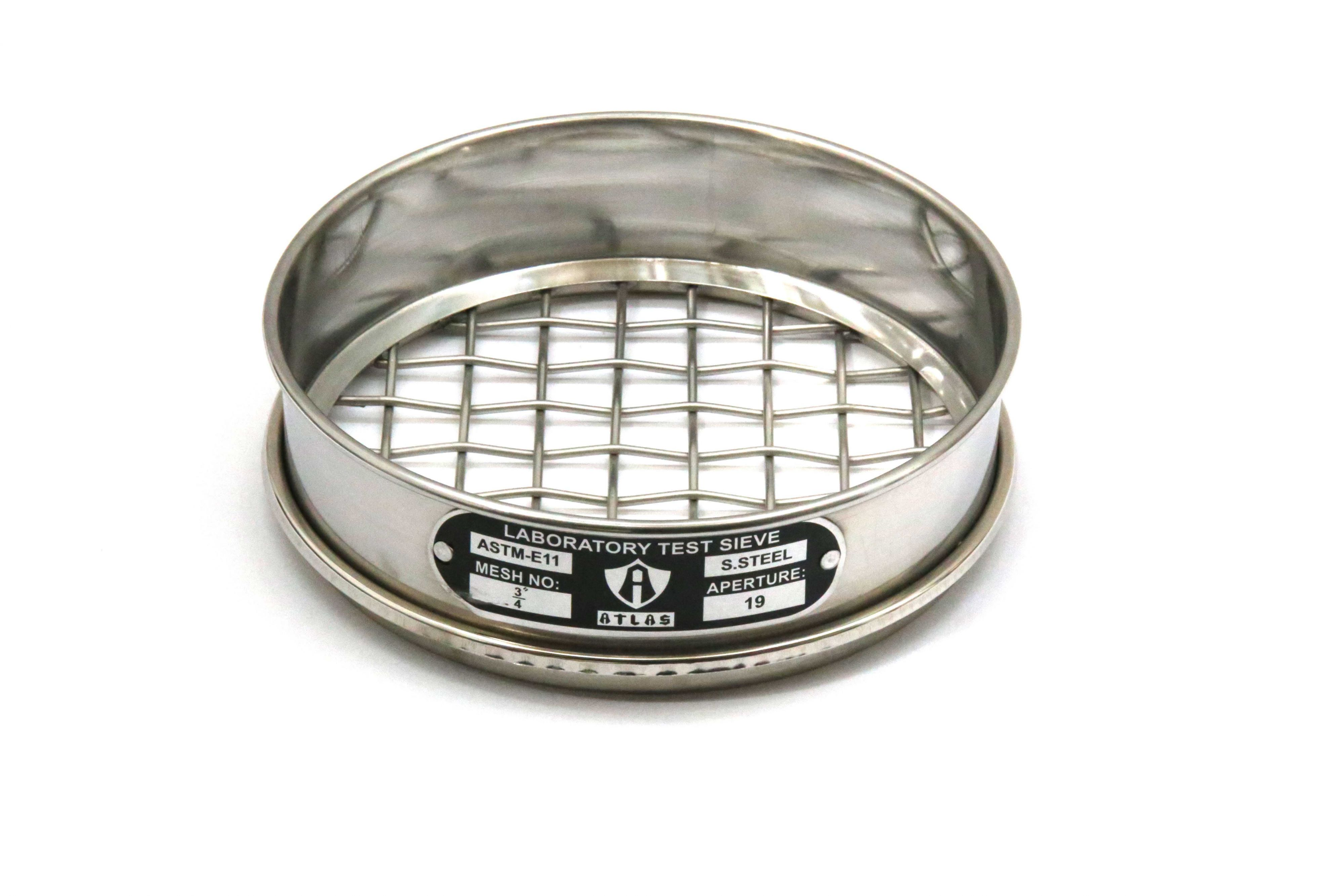 Laboratory sieve in sizes 8 and 12 inches